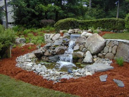 pond and waterfall design and maintenance - Mulch Designs